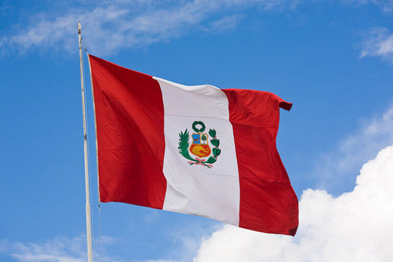 automação eletrônica no Peru, bandeira