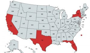 4 States - CA, TX, FL, NY - to Watch for Remote Seller Sales Tax Nexus in 2019