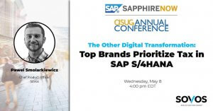Sovos Expert to Speak on Tax Compliance in S/4HANA at SAPPHIRE