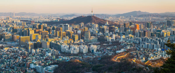 E-Invoice South Korea Seoul-sunset-crowded-skyscraper